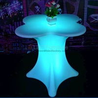 Colorful illuminated led table with battery and remote control,led cocktail table