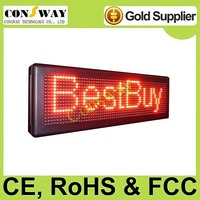DHL free shipping and CE approved outdoor led display with red color, programmable and scrolling message