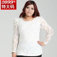 Blouse new 2014 summer spring women shirt Blusas New Fashion Lady elegant lace flower lace patchwork vintage plus size 4XL-10XL
