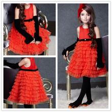 popular girls satin dresses