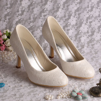 Booming Lace Wedding White Shoes Ladies High Heels Pointed Toe 2013 Free Shipping Dropship