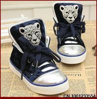 autumn  children shoes gold velvet child single shoes boy child skateboarding shoes leopard head sport shoes BY0049