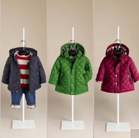 Big sale 2014 autumn winter brand design baby boy girl quilted jacket child coat with hood kids fashion outwear lightweight