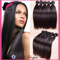 "Brazilian Virgin Hair Straight 4Pcs Lot,Cheap Brazillian Hair Natural Black Hair 8""-30"" No Mix,Can Be Dyed Human Hair Extensions"