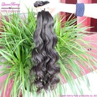Qin berry bella dream hair 5a grade best   brazilain virgin human hair extension   3 bundles  mix length natural body weave