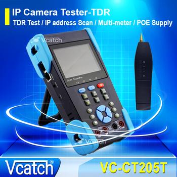 Vcatch CCTV Tester 3.5inch IP CCTV Monitor Video Tester with IP Add Scan/TDR Test Digital Multimeter Tester