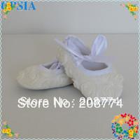 2013 New Style Fashion European Wholesale Flower Newborn Crib Baby Shoes Girls 0-12 Sizes 24pairs Free Shipping