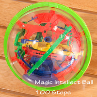 929A Puzzle ball Small Educational Magic Intellect Ball Marble Puzzle Game perplexus magnetic balls for Kids-100 Steps