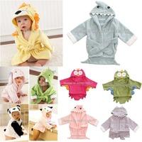 Retail boy girl Animal Baby bathrobe/baby hooded bath towel/kids bath terry children infant bathing/baby robe GLADBABY