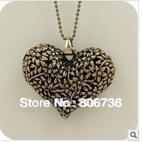 Min.Order is $15 Free shipping Fashion jewelry Fashion Necklace  Heart Pendant Necklace Sweater necklace for women