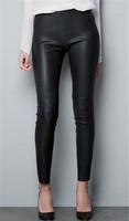 Women Brand Faux Leather Pants Stretch Bandage Waist Black Sexy Capris Ladies'Legging Spring Autumn Winter Pants