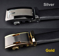 2014 new fashion Men genuine leather brand belt cowhide high quality automatic buckle leather strap Men gift free shipping AB039