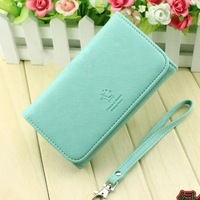 2014 Cute Womens Wallets Mint New hasp PU Leather Ladies Coin Purses Female Brand Wallets Free Shipping