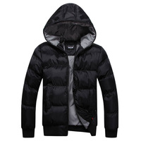 winter Plus size  fashion waterproof men's  hoody wadded jacket men cotton-padded coat outerwear men winter coat