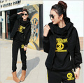 2013 Winter women's Sport suit 3pcs Women Leisure Sports Hoodies Set Three-piece Thickening Sweater suit