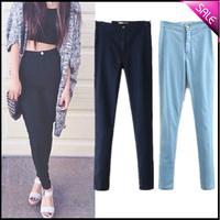 HOT HIGH FASHION SLIM FIT Elastic High Waist Easy Jeans XS-L