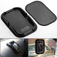 100% Brand New Black Car Accessories Rubber Sticky Pad Dash Mount Holder for Smartphone / GPS Non-Slip, Washable Reusable