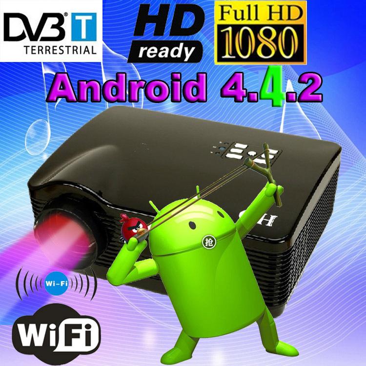 Meilleur atco 4500 lumens, dvb-t tv numérique led projecteur 1080p android. 4.2.2 wifi smart hd lcd projecteur proyector vidéo 3d pour européen