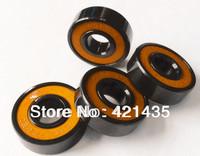 608 2RS Bearings skateboard Free shipping Appearance Blacken Anti-rust color cover Skateboarding bearing Orange sealed ABEC-11