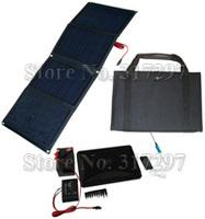 Free Shipping Folding Solar Panel 12V+40Watt Mono PET Solar Panel+Solar Controller+Solar Car Battery/Laptop/Phone Charger
