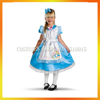 Free Shipping alice in wonderland costumes for kids AECC-1398