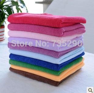 Free Shipping 10pcs/lot 30cmx30cm Microfiber Car Cleaning Towel Microfibre Detailing Polishing Scrubing Waxing Cloth Hand Towel(China (Mainland))