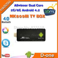 MK809III RK3188 Quad Core Google TV Stick 2G/8G XBMC Skype Bluetooth wifi  for android 4.2 smart TV Box mini pc MK809III