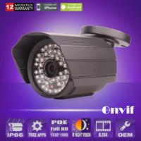 Build-in poe ip camera waterproof H.264 Megapixel HD Onvif 2MP Waterproof Night Vision Security CCTV IP Camera Network Camera