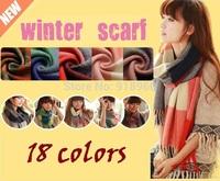 striped & plaid scarves pashmina shawls 2014 womens scarf with tassels,18 colors winter woman scarf,foulard women shawl echarpe