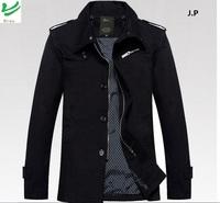 HROS Recommend 2014 Brand Design 4XL/3XL Men's Turn Down Fashion Style Slimming Coats Khaki/Black Blazers Cotton Casual Jacket