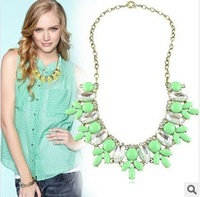 Promotion New Fashion Bib Chokers Cheap Bubble Statement Necklaces 2014 For Women Drop
