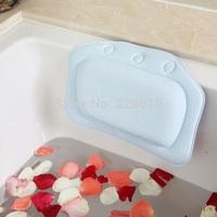 Free shipping haizhidian blue Bathroom supplies bathtub pillow bath pillow bathtub headrest suction cup waterproof bath pillow