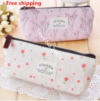 Free shipping,new fashion pastoral wind flower dot canvas women messenger bags,handbags,cosmetic bags,makeup case/bag,1 pcs/lot