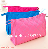Free shipping,hot!Han edition thick, ling plaid zipper handbags,women messenger bags,cosmetic bags,makeup case/bag,1 pcs/lot