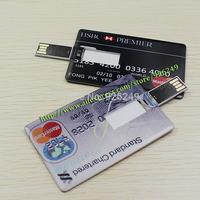 New 2014 Design Credit Bank Card USB 2.0 Flash Drives 8GB 16GB 32GB 64GB Card Drive Memory Stick Free Shipping
