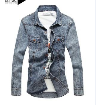 2013 Korean version of men's denim jacket Free shipping