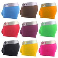 Most Pop Men's silver band boxers(C2090) 10pcs/lot quality durable Cotton Underwear boxer shorts trunk Wholesale  Free shipping