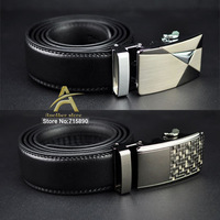 Free shipping 2013 new fashion brand Men genuine leather belt cowhide high quality automatic buckle leather strap AB042