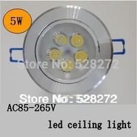 Free shipping 10pcs/lot,5W LED Ceiling downlight led spot light lamp Warm White/Cold White AC85-265V indoor lighting