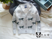 Free shipping 2 color Autumn and winter cotton long sleeve boys jacket, sweater