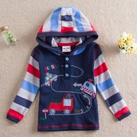 STAR  2013 new free shipping t-shirts  hoodie cartoon baby boys long sleeve embroidery children clothing kids wear L82102#