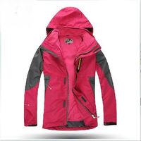 Military Level Fabrics Ski-Wear! Outdoor Men's Jacket Waterproof Coat+Removable Fleece Liner+Hood  Warm Jackets Women's Suit Ski