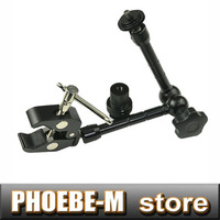 "100%new 11"" Inch Articulating Magic Arm + Large Super Clamp for LCD Monitor LED light"
