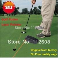 FreeShipping Golf Putter Laser Pointer Golf Putter Training Golf Practice Aid Golf putting aim line corrector