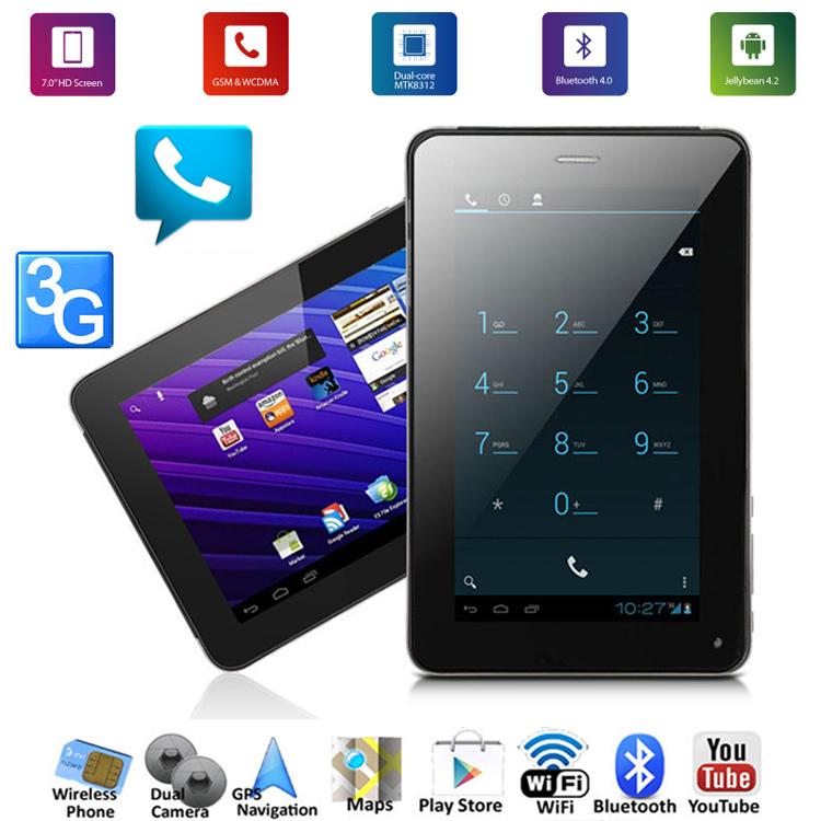 3G Tablet PC Phone Call GPS Bluetooth FM WIFI Dual Camera 1024*600 HD(China (Mainland))