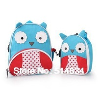2pcs/lot designed cartoon bags and ice cooler bag set, Zoo bags meal package for kid best party gifts free shipping