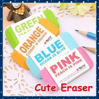 [FORREST SHOP] 4 Color Korea School Stationery Soft Student Rubber Erasers For Kids Gift (32 pieces/lot) High Quality AXP96455