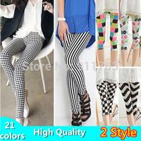 20 COLORS New 2014 Women's Leggings Fashion Digital Print Galaxy High Elastic Leggings Pencil Pants Slim Stretchy Legging S,M,L