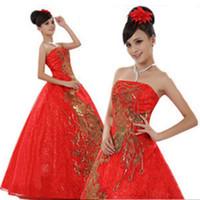 2014 New Arrival Bridal Red Wedding Dresses Off The Shoulder Lace Dress 11HS12