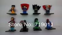 Super Heroes High Quality 8 pcs/lot Iron man/superman/batman/spiderman the Avengers Series' Action Figure Building Block Toys